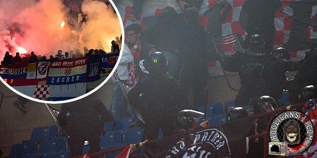 Milano, 16.11.2014 - Nogomet: Zbog nereda hrvatskih navijaca prekinuta utakmica Hrvatska - Italija