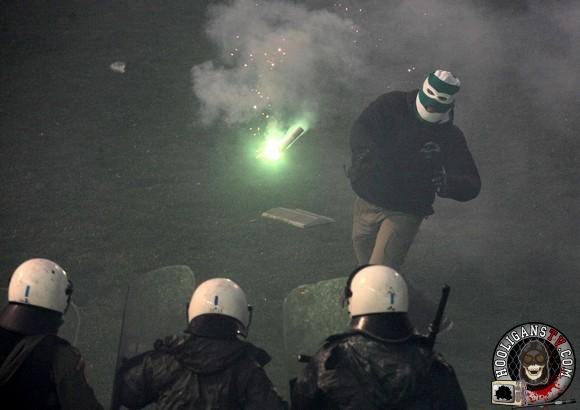 Panathinaikos Pinterest: Olympiakos 22.02.2015, Riots Before The