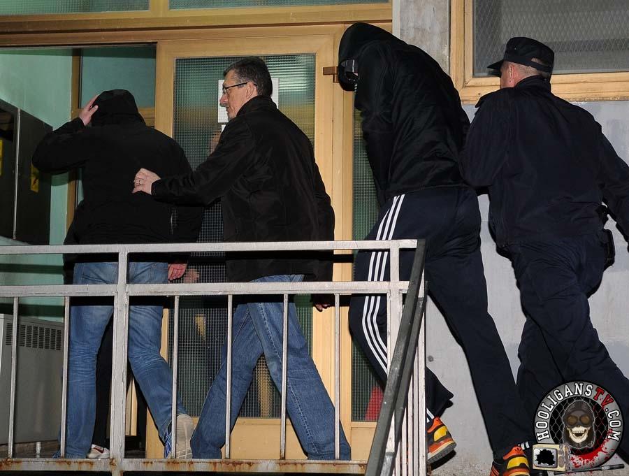 Karlovac, 12.03.2015 - Cetvorica pripadnika BBB-a privedeni su veceras istraznom sucu u Karlovcu