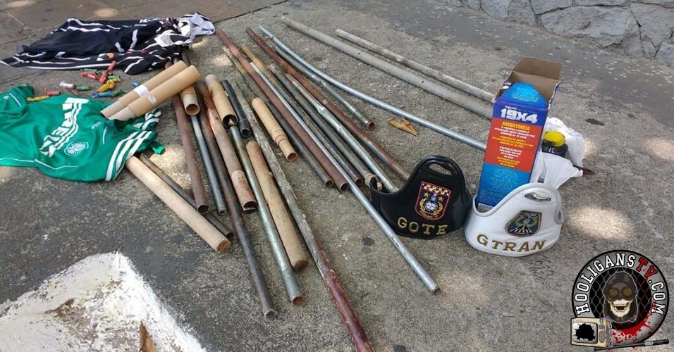 policia-apreende-objetos-de-briga-entre-torcedores-de-corinthians-e-palmeiras-em-guarulhos-confrontos-resultaram-em-uma-morte-1459702433528_956x500